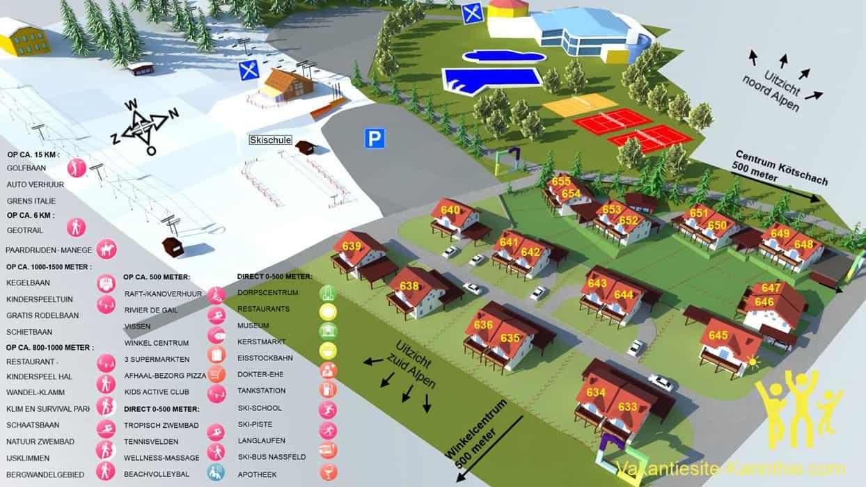 plattegrond-resort-sonnenpiste-koetschach